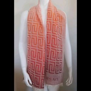 🤩 Final price Authentic Versace Scarf With Fringe